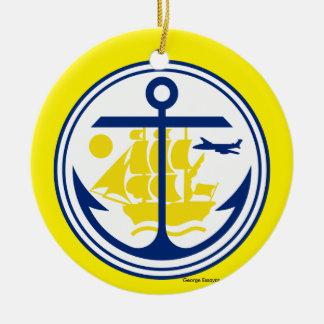 Anchorage Alaska Christmas Ornament