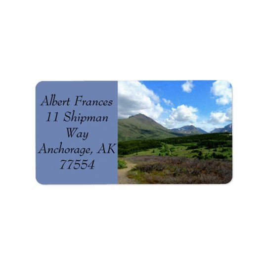 Anchorage Alaska Label