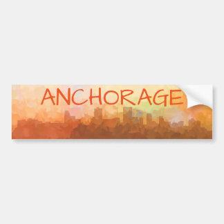 Anchorage Alaska Skyline IN CLOUDS Bumper Sticker