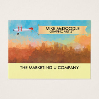 Anchorage Alaska Skyline IN CLOUDS Business Card