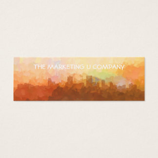 Anchorage Alaska Skyline IN CLOUDS Mini Business Card