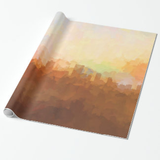 Anchorage Alaska Skyline IN CLOUDS Wrapping Paper
