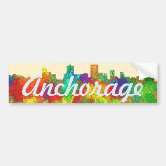 Anchorage Alaska Skyline-SG Bumper Sticker