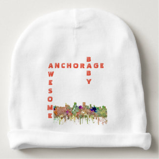 Anchorage, Alaska Skyline SG-Faded Glory Baby Beanie