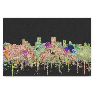 Anchorage Alaska Skyline SG-Faded Glory Tissue Paper