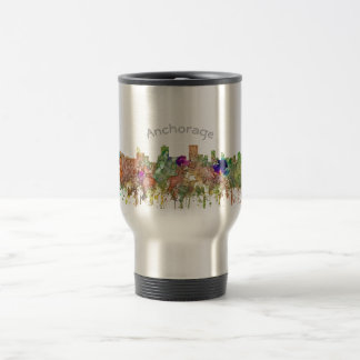 Anchorage, Alaska Skyline SG-Faded Glory Travel Mug