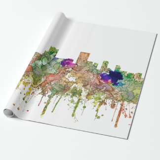 Anchorage Alaska Skyline SG-Faded Glory Wrapping Paper