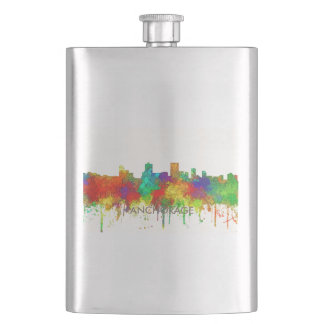 Anchorage Alaska Skyline-SG Hip Flask