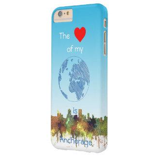 Anchorage, Alaska Skyline - SG - Safari Buff Barely There iPhone 6 Plus Case