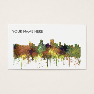 Anchorage Alaska Skyline SG-Safari Buff Business Card