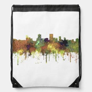 Anchorage Alaska Skyline SG-Safari Buff Drawstring Bag