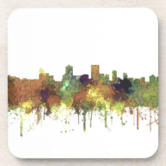 Anchorage Alaska Skyline SG-Safari Buff Drink Coasters