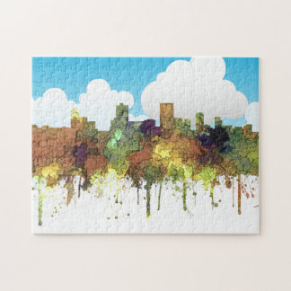Anchorage Alaska Skyline SG-Safari Buff Jigsaw Puzzle