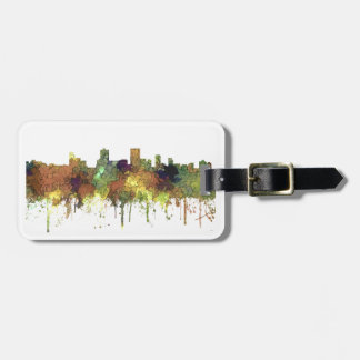 Anchorage Alaska Skyline SG-Safari Buff Luggage Tag