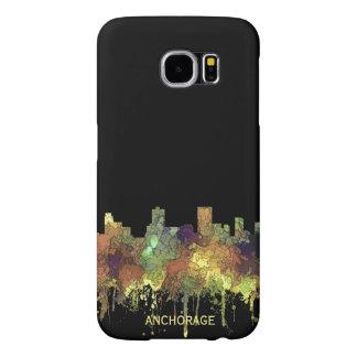 Anchorage, Alaska Skyline - SG - Safari Buff Samsung Galaxy S6 Cases