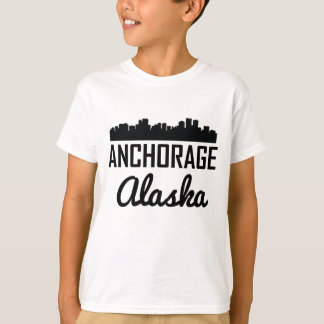 Anchorage Alaska Skyline T-Shirt