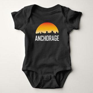 Anchorage Alaska Sunset Skyline Baby Bodysuit