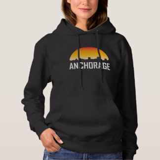 Anchorage Alaska Sunset Skyline Hoodie
