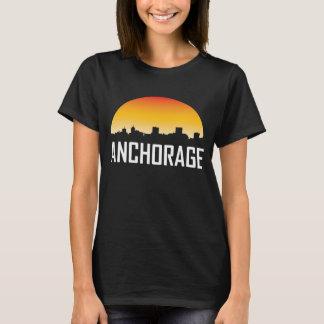 Anchorage Alaska Sunset Skyline T-Shirt