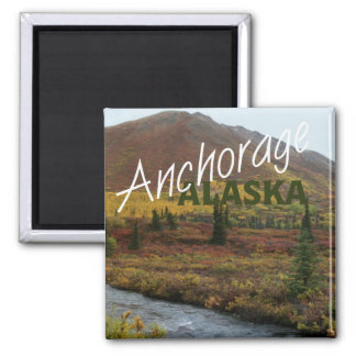 Anchorage Alaska USA Souvenir Fridge Magnet