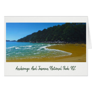 Anchorage Beach, Abel Tasman National Park NZ Card