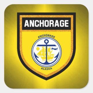 Anchorage Flag Square Sticker