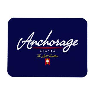 Anchorage Script Rectangular Photo Magnet
