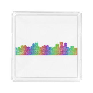 Anchorage skyline acrylic tray