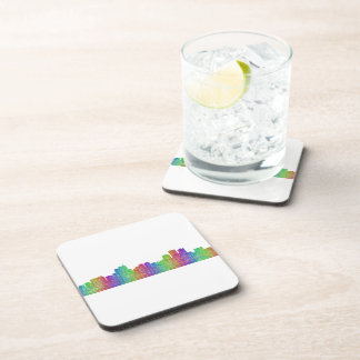 Anchorage skyline beverage coasters