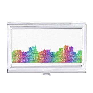 Anchorage skyline business card holder