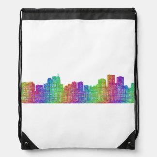 Anchorage skyline drawstring bag