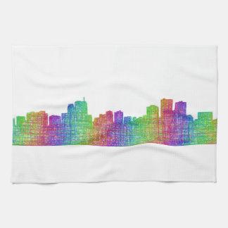 Anchorage skyline kitchen towel