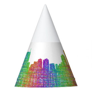 Anchorage skyline party hat