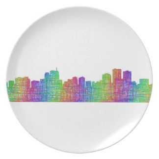 Anchorage skyline party plates