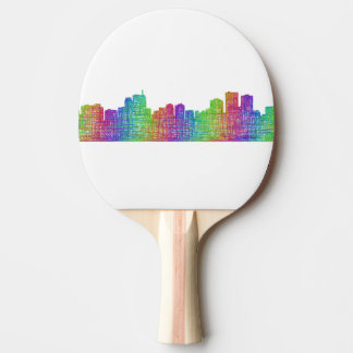 Anchorage skyline ping pong paddle