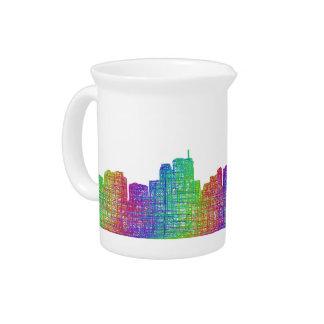 Anchorage skyline pitcher