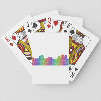 Anchorage skyline playing cards