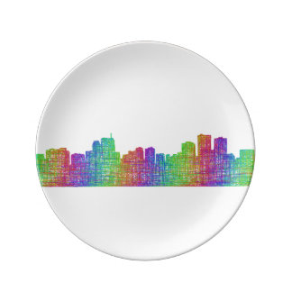 Anchorage skyline porcelain plate