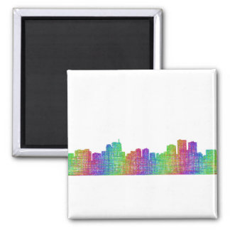 Anchorage skyline square magnet