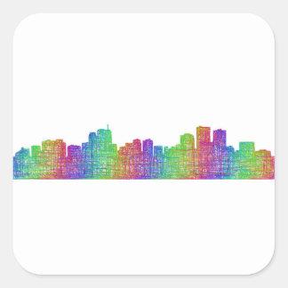 Anchorage skyline square sticker