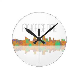 Anchorage Skyline Wall Clock