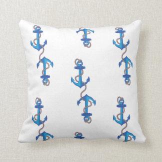 Anchored anchor throw pillow