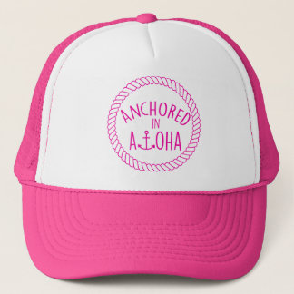 Anchored in Aloha Rope Design Hat