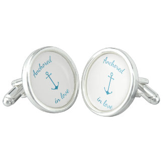 Anchored in love cuff links