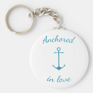 Anchored in love keychain