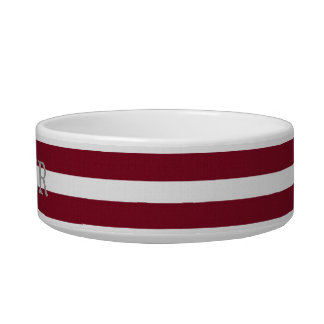 Anchors and stripes custom pet dish