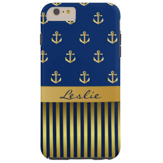 Anchors and Stripes iPhone 6 Plus Case Tough iPhone 6 Plus Case