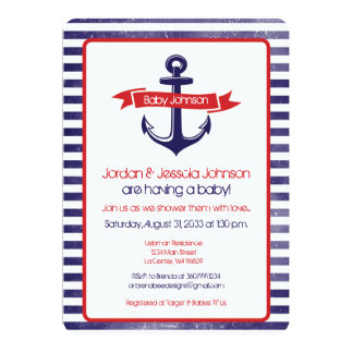 Anchor's Away Baby Shower Card