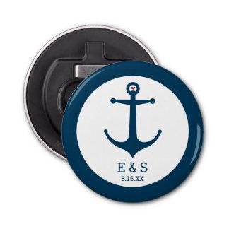 Anchors Away Button Bottle Opener