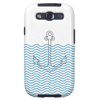 Anchor's Away! Girly Nautical Retro Samsung Cover Samsung Galaxy S3 Cover